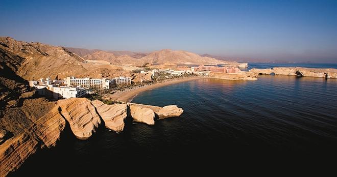Vue Aérienne de l'hôtel Shangri La Barr Al Jissah Resort & Spa