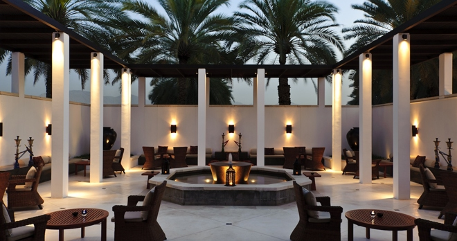The Shisha Courtyard - copyright The Chedi Muscat Hotel