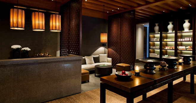 Spa, réception et boutique - copyright The Chedi Muscat Hotel
