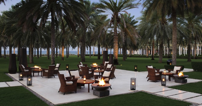 The Lobby Lounge Courtyard - copyright The Chedi Muscat Hotel