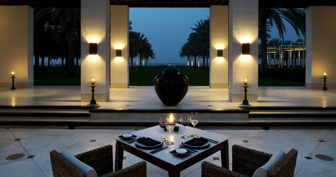 The Restaurant Courtyard - copyright The Chedi Muscat Hotel