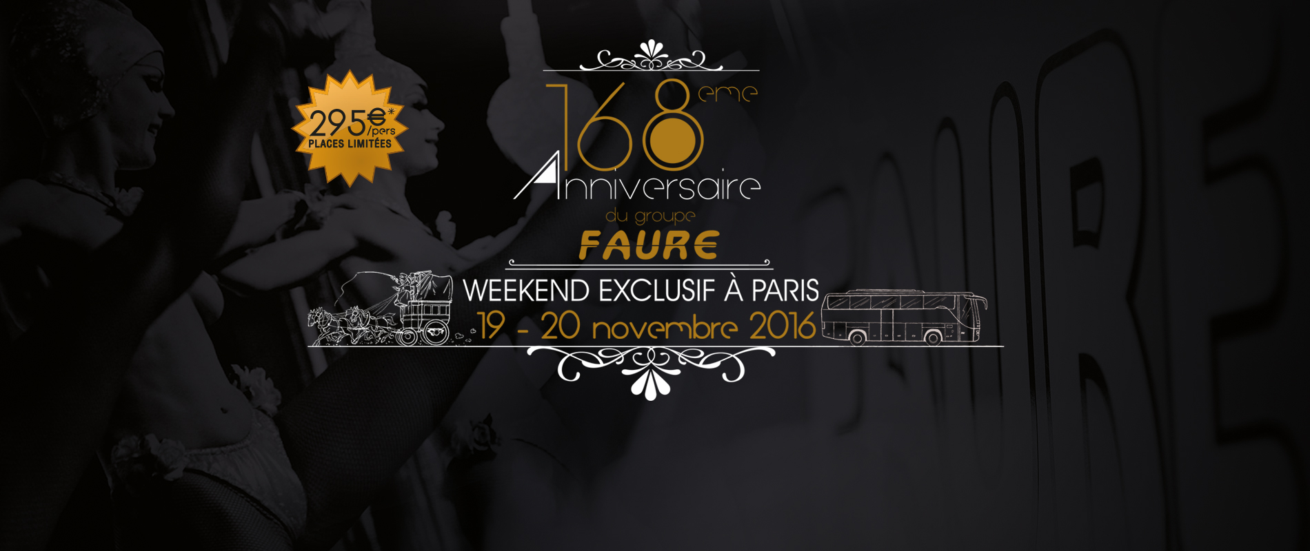 WEEK-END EXCLUSIF A PARIS 168 ANS à partir de 295 € TTC