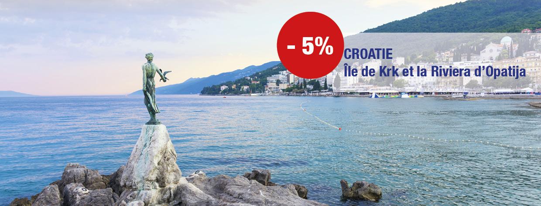 Île de Krk et la Riviera d'Opatija à partir de 806 € TTC