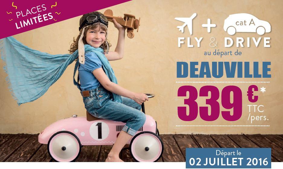 vol+loc.de voiture départ de Deauville à partir de 399 € TTC